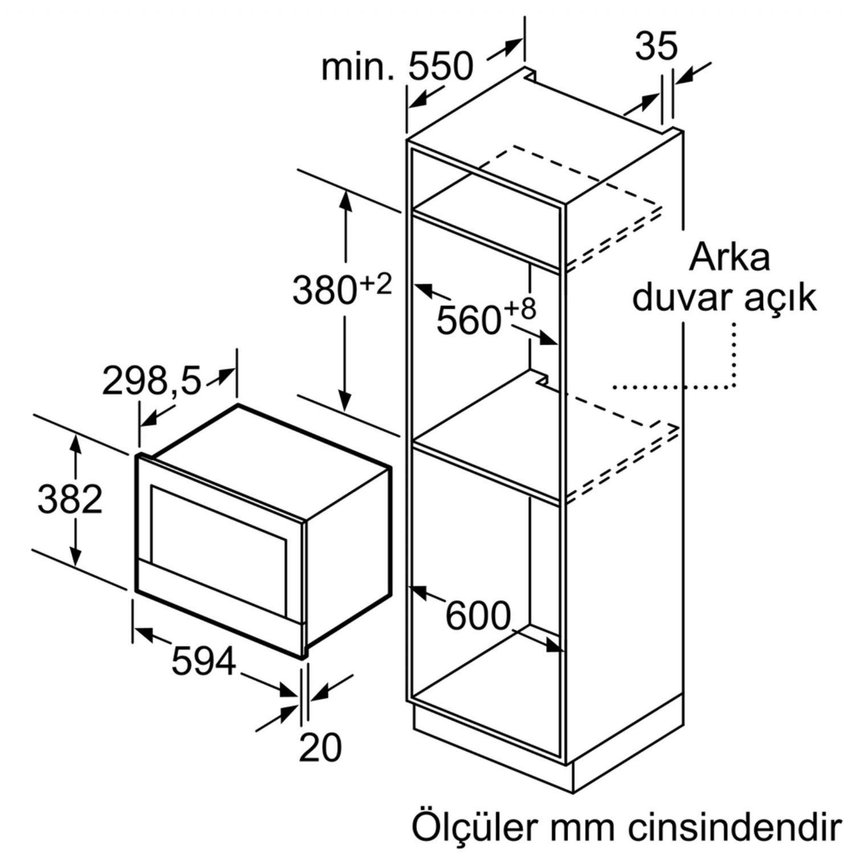 Siemens BE634LGS1 mikrodalga fırın | Ankastre Mikrodalga Fırın | Ankastre |  Veyisoğlu Grup-Alışverişin Güvenli Adresi